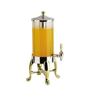 Buffet Enhancements 1BT18610-BRA 2 Gallon Deluxe Juice Dispenser With Brass Legs