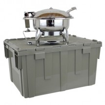 Buffet Enhancements 1BTC602 Deluxe Cater-Crate Set With New Age™ Square Chafing Dish