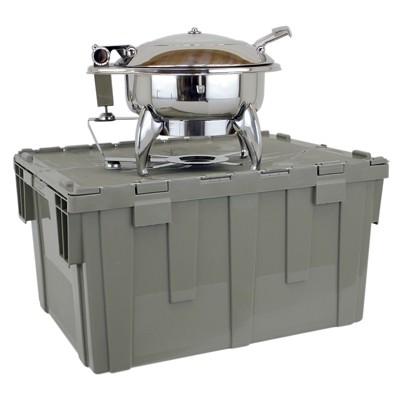 Buffet Enhancements 1BTC302 Deluxe Cater-Crate Set With New Age™ Square Chafing Dish