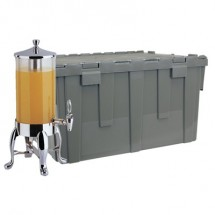 Buffet Enhancements 1BTC611C Deluxe Cater-Crate Set with 1.8 Gallon Beverage Dispenser 1BT18610-CHO