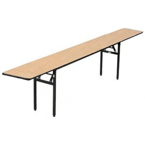 "Buffet Enhancements 1BWD130004 96"" x 18"" Rectangular Folding Tables"
