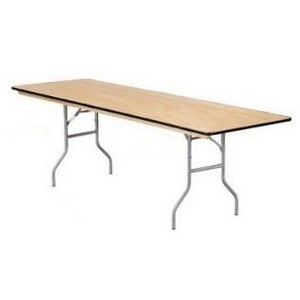 "Buffet Enhancements 1BWD130006 96"" x 30"" Rectangular Folding Tables"