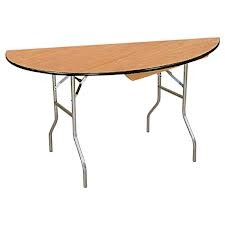"Buffet Enhancements 1BWD13002972 72"" Half-Round Folding Tables"