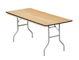 "Buffet Enhancements 1BWD13004830 48"" x 30"" Rectangular Folding Tables"