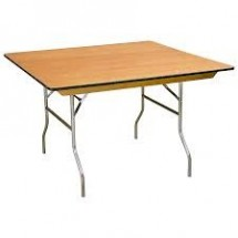 "Buffet Enhancements 1BWD13004848 48"" x 48"" Rectangular Folding Tables"