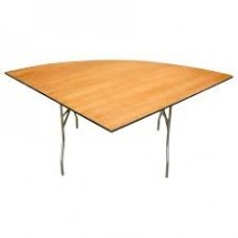 "Buffet Enhancements 1BWD130099 60"" Quarter-Round Folding Tables"