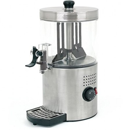 Buffet Enhancements Economy Brushed Stainless Chocolate Shot 3 Qt.