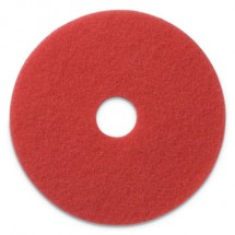 """Buffing Pads, 13"""" Diameter, Red, 5/CT"""