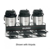 Bunn 35728.0002 3 Pot Universal Airpot Rack with 3 Racks