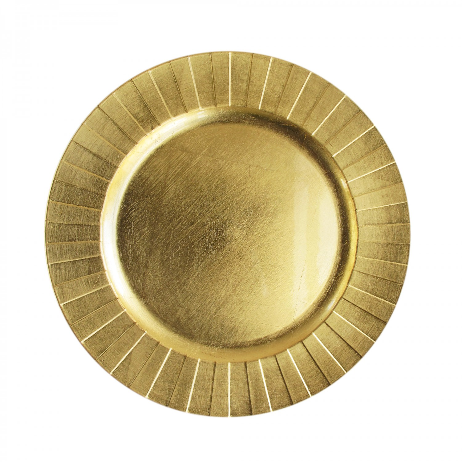 The Jay Companies 1182772 Round Gold Accent Charger Plate 13""