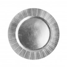 The Jay Companies 1182773 Round Silver Accent Charger Plate 13""