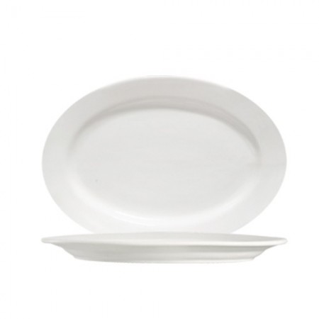 """CAC China 101-13 Lincoln Porcelain Oval Platter 11-1/4""""  x 8-1/4"""" - 1 doz"""