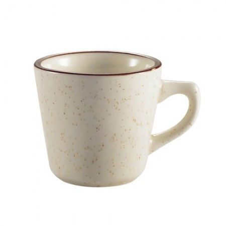 CAC China AZ-1 Arizona Brown Rim Speckled Tall Cup 7 oz.  3 doz