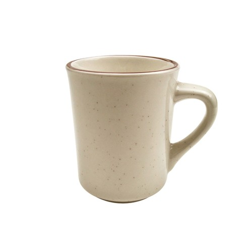 CAC China AZ-17 Arizona Brown Rim Speckled Ventura Mug 8 oz. - 3 doz