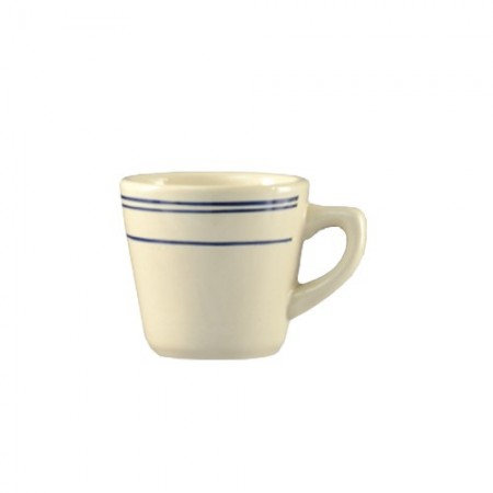 CAC China BLU-1 Blue Line Rolled Edge Tall Cup 7 oz. - 3 doz