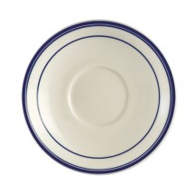 "CAC China BLU-36 Blue Line Rolled Edge A.D. Saucer 4"" - 3 doz"