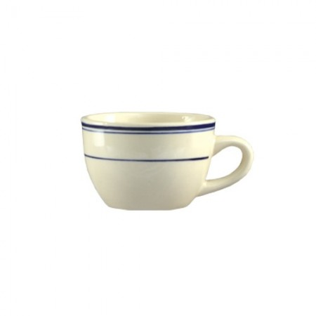 CAC China BLU-37 Blue Line Rolled Edge Short Cup 7 oz. - 3 doz