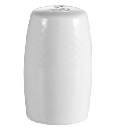 "CAC China BST-SS Boston Porcelain Embossed Salt Shaker 2-1/8"" -4 doz"