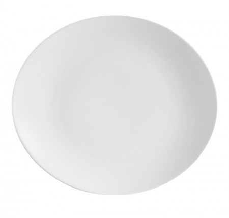 "CAC China COP-13 Coupe Porcelain Oval Platter 12-1/2"" x 10-1/2"" - 1 doz"