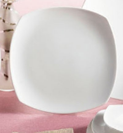"""CAC China COP-SQ20 Coupe Square Porcelain Plate 11-1/4"""" - 1 doz"""