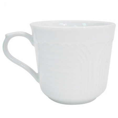 CAC China CRO-35 Corona Porcelain Embossed A.D. Cup 3.5 oz. - 3 doz