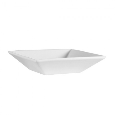 CAC China F-QB7 Sushia Porcelain Square Bowl 18 oz. - 2 doz