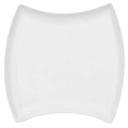 "CAC China FTO-21 Fashionware Square Porcelain Plate 10-1/2"" x 10-1/2"" - 1 doz"