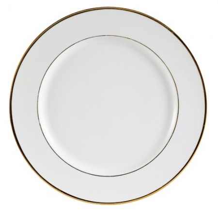 """CAC China GRY-16 Golden Royal Round Plate 10-1/2""""- 1 doz"""