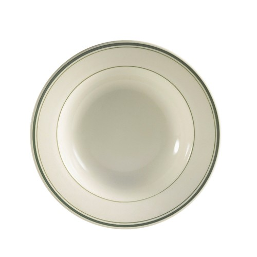 CAC China GS-3 Greenbrier Rim Soup Bowl 10 oz.  - 2 doz