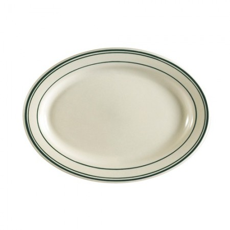 """CAC China GS-33 Greenbrier Oval Platter 7"""" x 4-5/8"""" - 3 doz"""