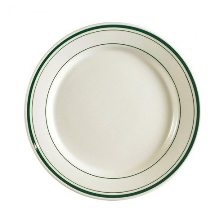 """CAC China GS-9  Greenbrier Plate 9-3/4""""  - 2 doz"""
