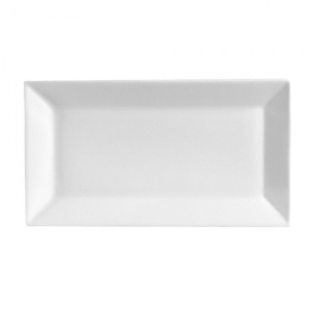 "CAC China KSE-51 Kingsquare Porcelain Rectangular Platter 14-1/2"" x 8-1/4"" - 1 doz"