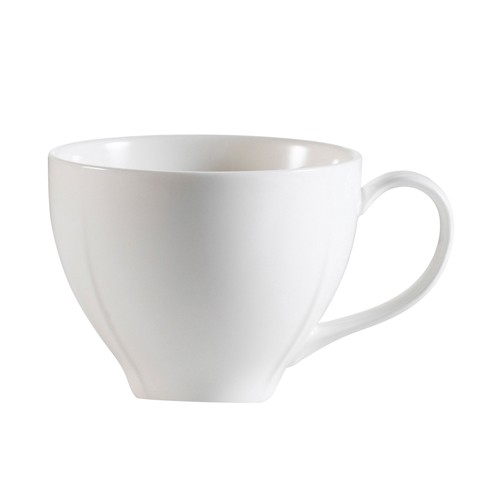 CAC China MDN-1  Modern White Porcelain Coffee Cup 7.5 oz. - 3 doz
