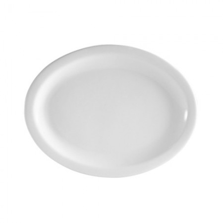 "CAC China NCN-13 Clinton Narrow Rim Porcelain Platter 11-1/2"" x 9-1/8""  - 1 doz"