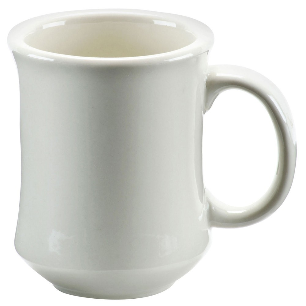 CAC China PM-7-W American White Mug 7 oz. - 3 doz