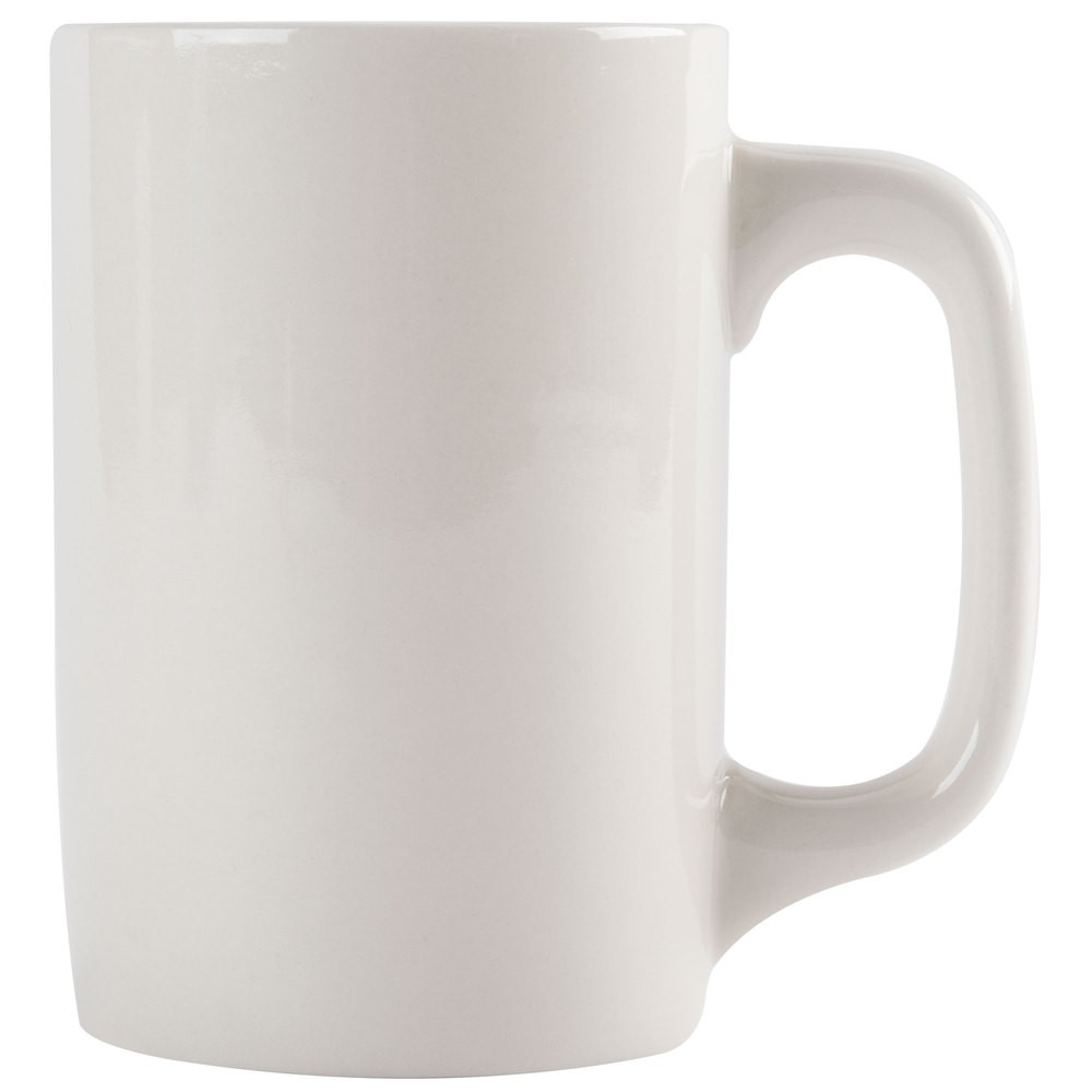 CAC China PRM-12-W American White Prime Straight Mug 11 oz. - 3 doz