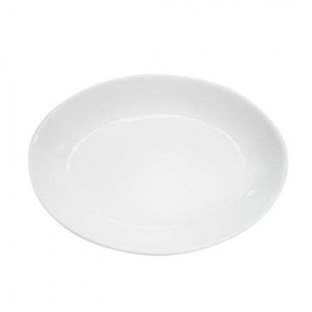 """CAC China RCN-102 Specialty Porcelain Deep Oval Platter 15-1/2"""" x 11"""" - 1 doz"""