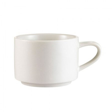 CAC China RCN-23 Clinton Rolled Edge Stacking Cup 7.5 oz. - 3 doz
