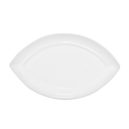 """CAC China RCN-SW7 Specialty Porcelain Swallow Platter 7"""" x 4-1/8"""" - 3 doz"""