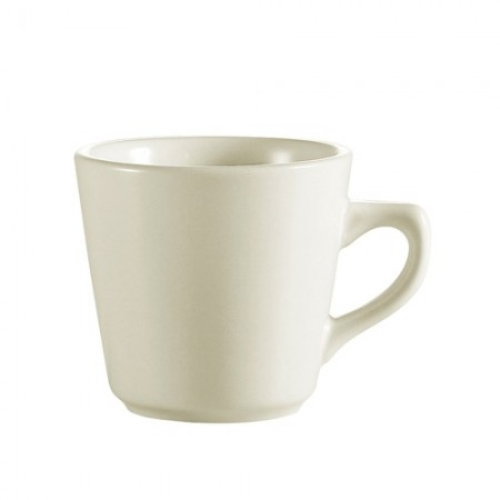 CAC China REC-1 Rolled Edge Stoneware Tall Cup 7 oz. - 3 doz