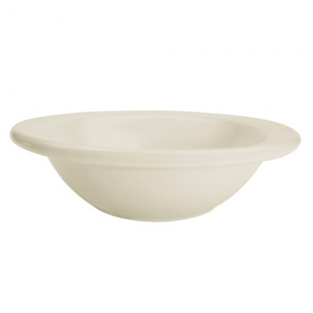 CAC China REC-10 Rolled Edge Stoneware Grapefruit Dish 13 oz.- 3 doz