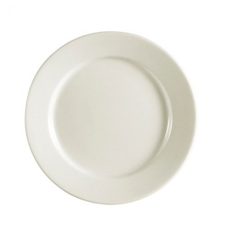 "CAC China REC-22 Rolled Edge Stoneware Plate 8-1/4"" - 3 doz"
