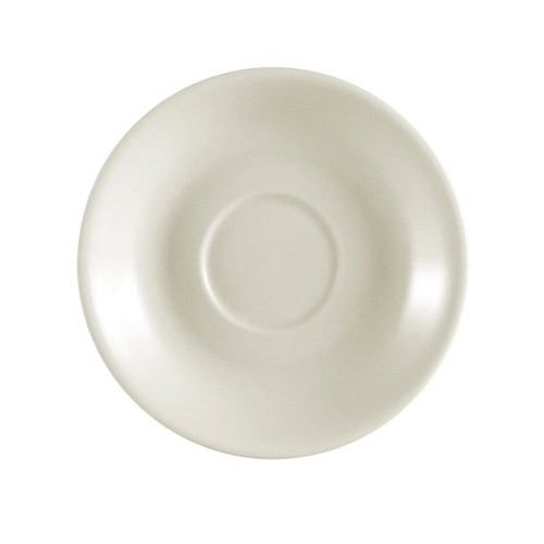 "CAC China REC-36 Rolled Edge Stoneware Saucer 4-1/2"" - 3 doz"