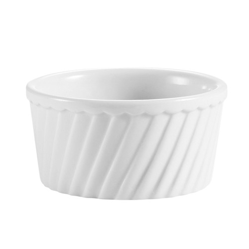 CAC China RKF-12-S Porcelain Fluted Souffle Bowl  12 oz.  - 3 doz