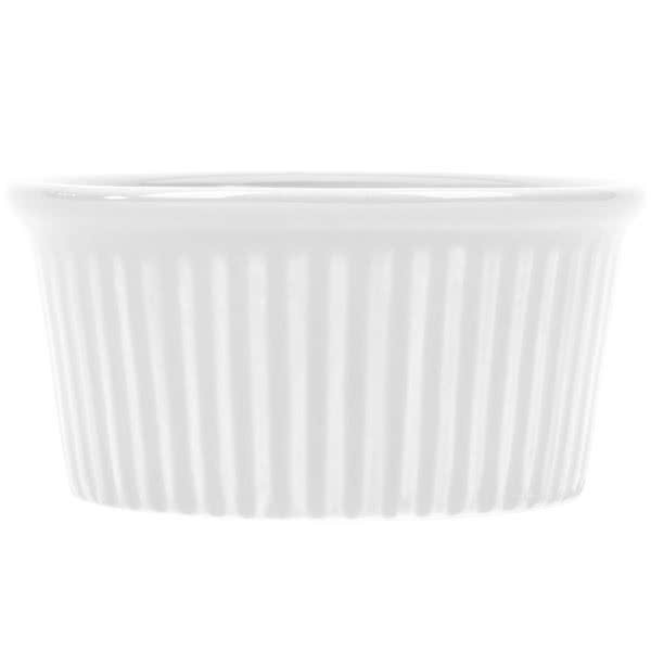 CAC China RKF-2 Festiware White Fluted Ramekin 2 oz. - 4 doz