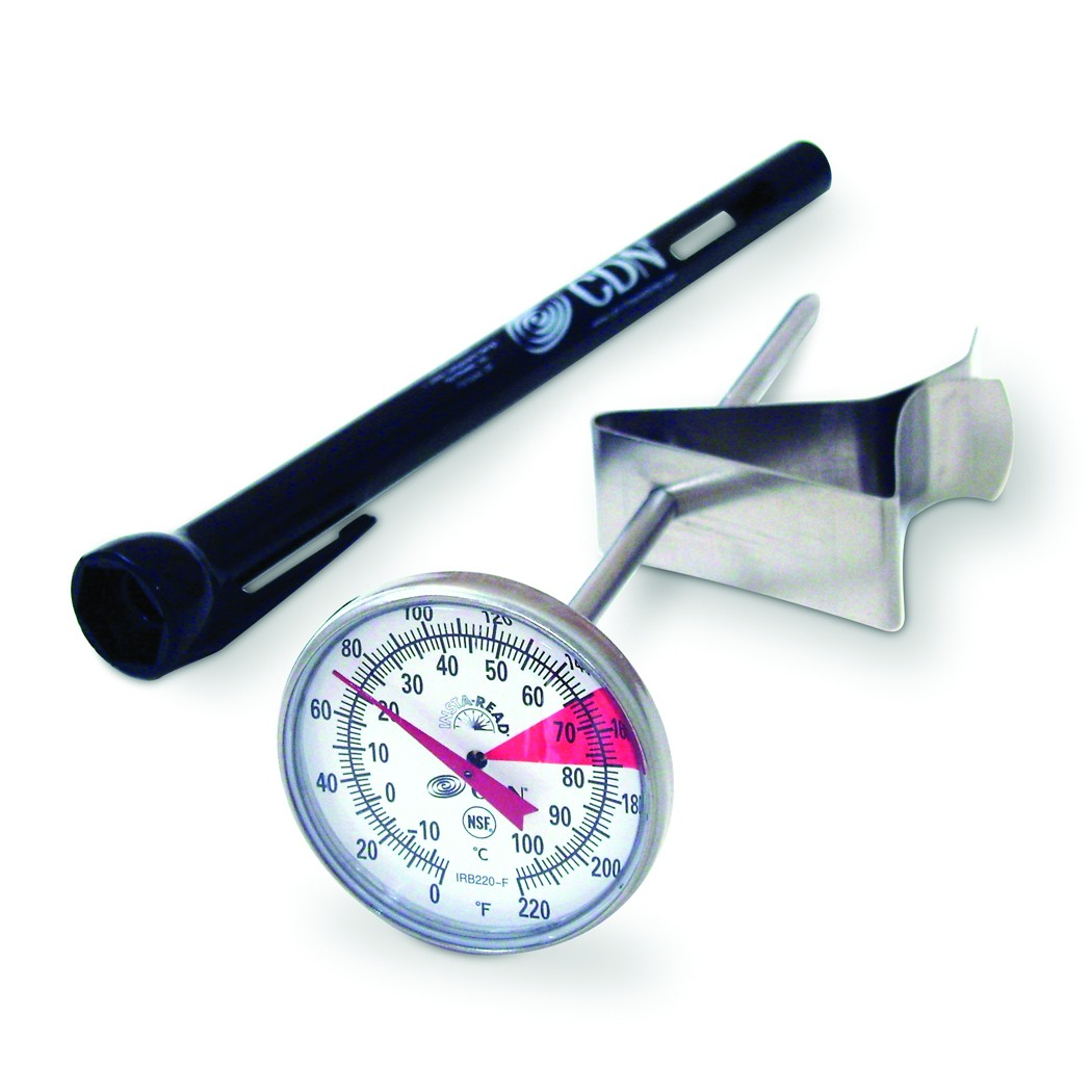 """CDN IRB220-F ProAccurate® Insta-Read® Beverage and Frothing Thermometer 5"""" Stem"""