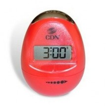 CDN TM12-R Digital Egg-Shaped Timer, Pearl Red