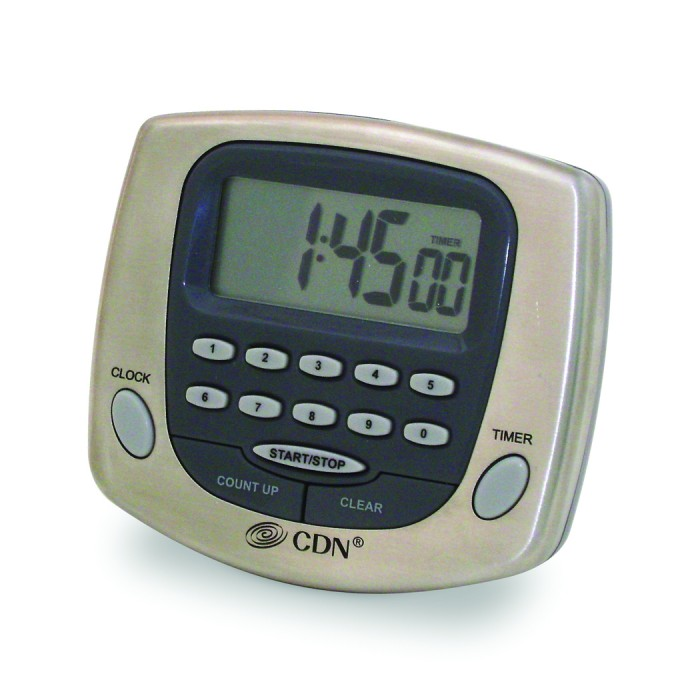CDN TM23-S Big-Digit Digital Timer and Clock