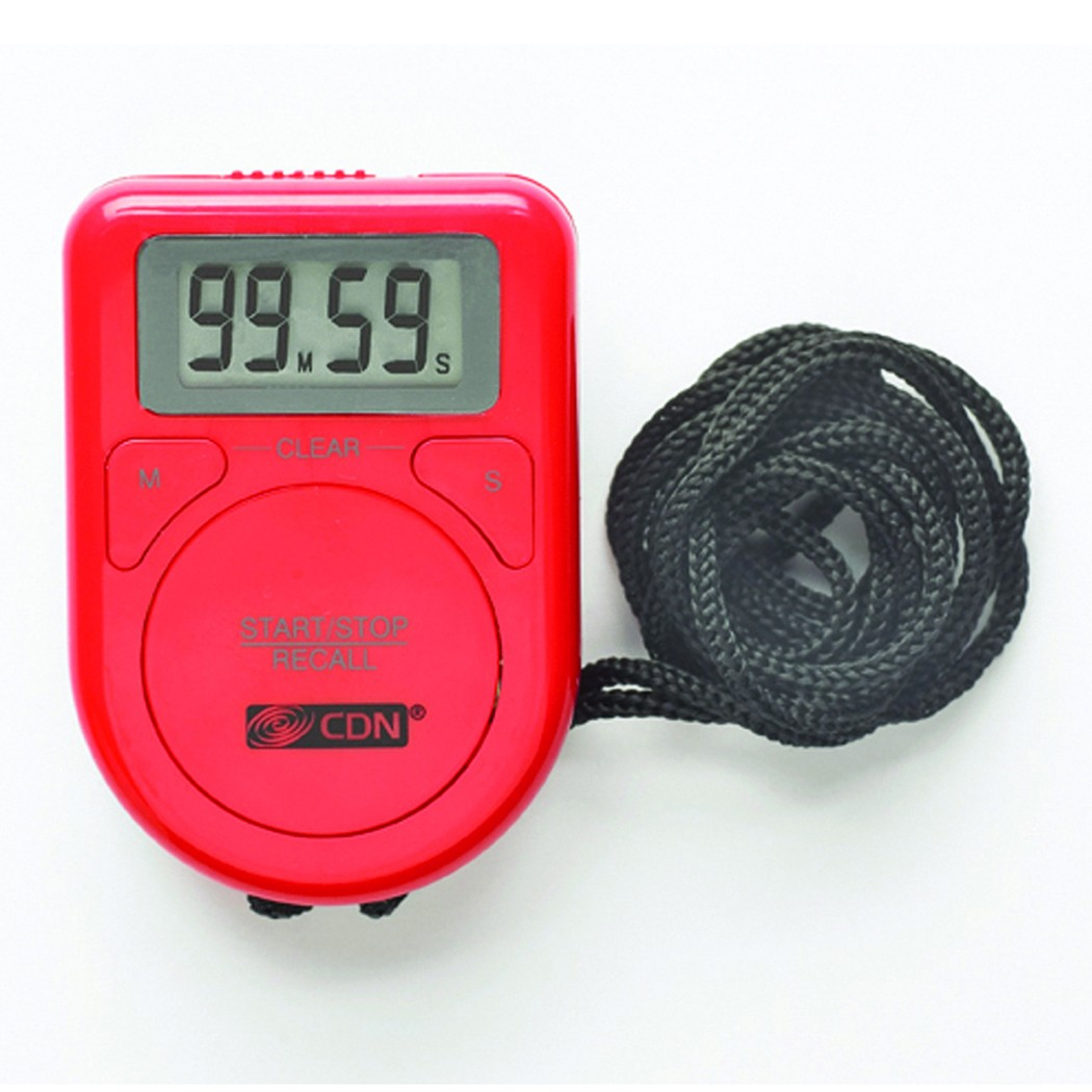 CDN TR3-R Digital Timer on a Rope, Red