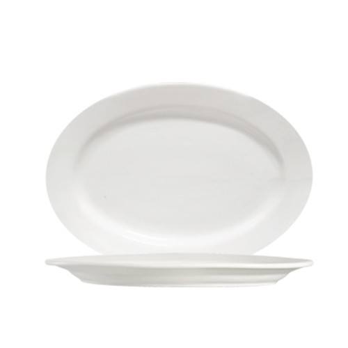 "CAC China 101-14 Lincoln Porcelain Oval Platter 12-1/4"" x 8-3/4""  - 1 doz"